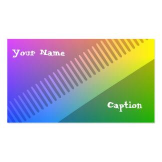 Cartão de visita colorido do cabeleireiro