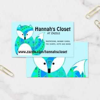 Cartão de visita colorido do Fox