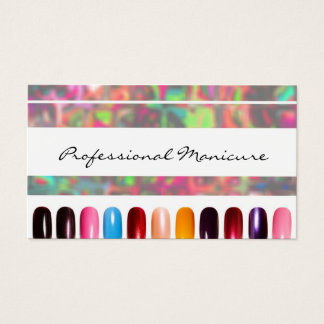 Cartões de visita para manicures na Zazzle