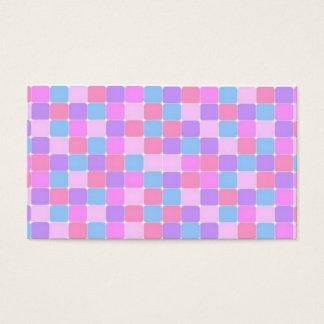 cartão de visita colorido dos azulejos