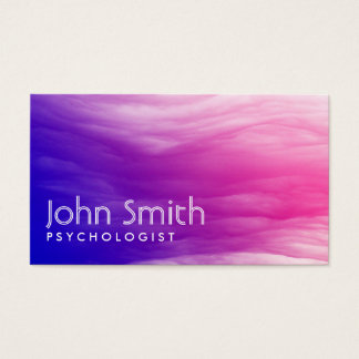 Cartão de visita colorido vívido do psicólogo das