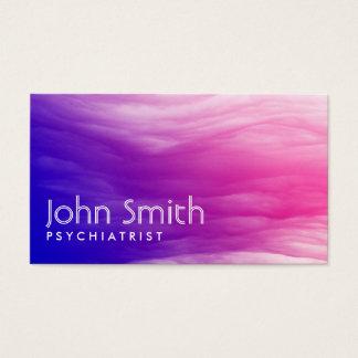 Cartão de visita colorido vívido do psiquiatra das