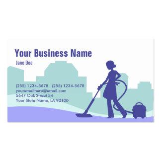 Cartão de visita comercial da limpeza