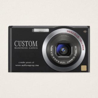 Cartão de visita compacto do fotógrafo da câmara