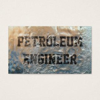 Cartão de visita congelado do engenheiro do