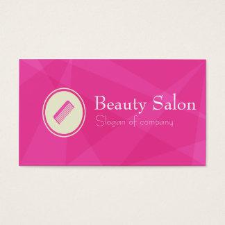 Cartão de visita cor-de-rosa abstrato do salão de