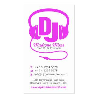 Cartão de visita cor-de-rosa & branco do promotor