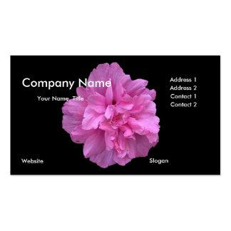 Cartão de visita cor-de-rosa da flor