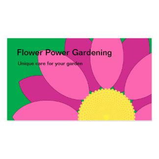 Cartão de visita cor-de-rosa da jardinagem de flor