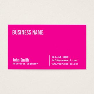 Cartão de visita cor-de-rosa de néon do engenheiro