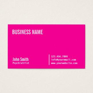 Cartão de visita cor-de-rosa de néon do psiquiatra