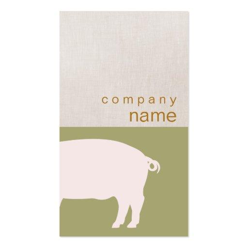 Cartão de visita cor-de-rosa do porco