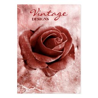 Cartão de visita cor-de-rosa do vintage