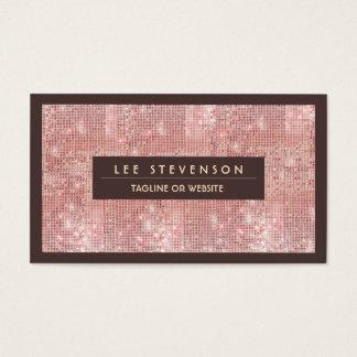 Cartão de visita cor-de-rosa dos Sequins