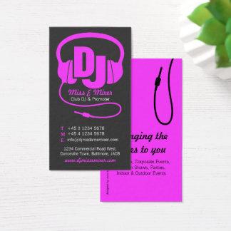 Cartão de visita cor-de-rosa & preto do promotor