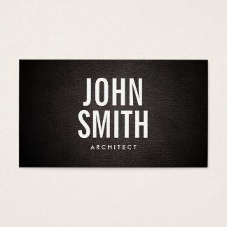 Cartão de visita corajoso simples do arquiteto do