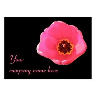 Cartão de visita customizável da tulipa cor-de-ros
