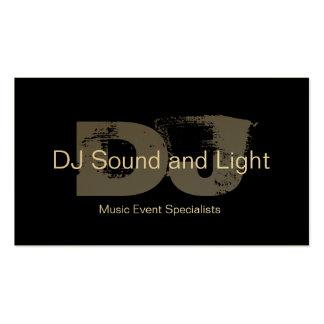 Cartão de visita customizável do DJ do monograma c