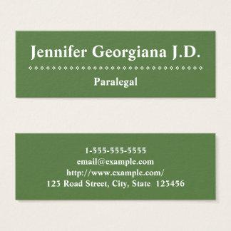 Cartão de visita customizável e mínimo do