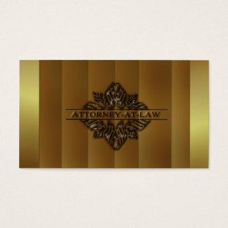 Cartão de visita da Advogado-em-Lei do ouro