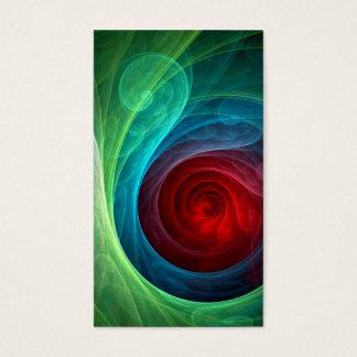 Cartão de visita da arte abstracta de Red Storm