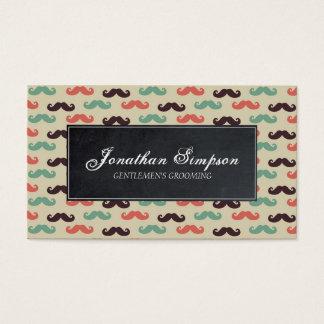 cartão de visita da barba do barbeiro do vintage