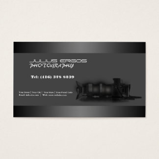 Cartão de visita da câmera do fotógrafo da