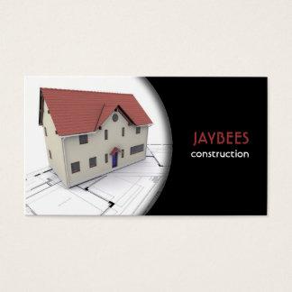 Cartão de visita da construção/arquiteto