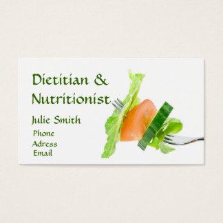 Cartão de visita da dietista