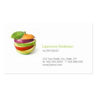 Cartões de visita para nutricionistas na Zazzle