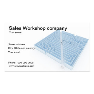 Cartão de visita da empresa da oficina