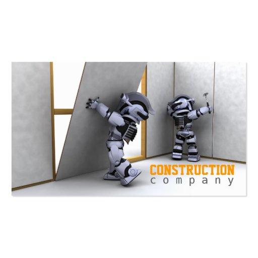 Cartão de visita da empresa de construção civil