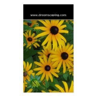 Cartão de visita da flor de Susan de olhos pretos