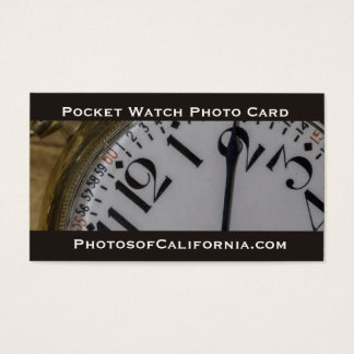 Cartão de visita da foto do relógio de bolso