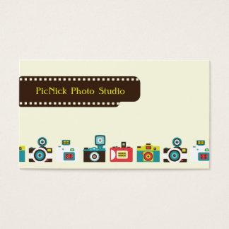 Cartão de visita da fotografia das câmeras do
