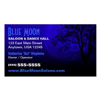 Cartão de visita da imagem da lua azul