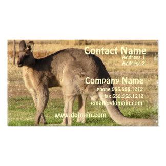 Cartão de visita da imagem do canguru