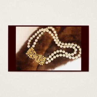 Cartão de visita da jóia do vintage