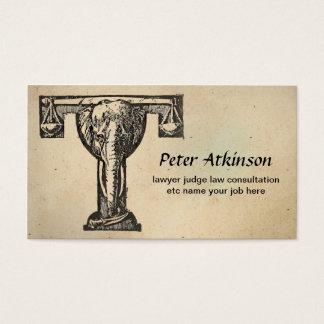 cartão de visita da lei