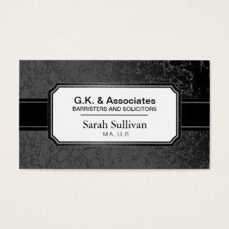 Cartão de visita da lei - advogado à moda preto do