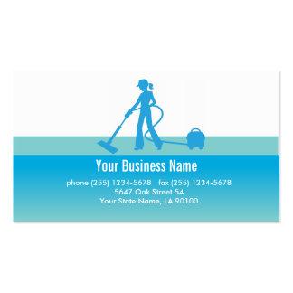 Cartão de visita da limpeza