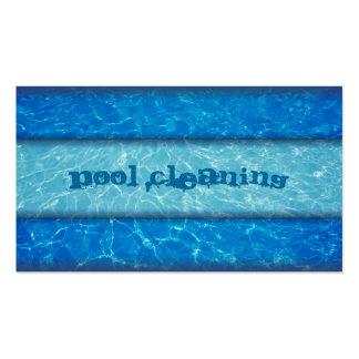 Cartão de visita da limpeza da piscina