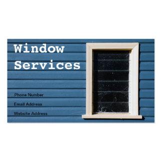 Cartão de visita da limpeza de janela