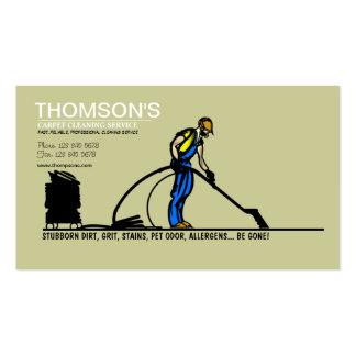 Cartão de visita da limpeza do tapete