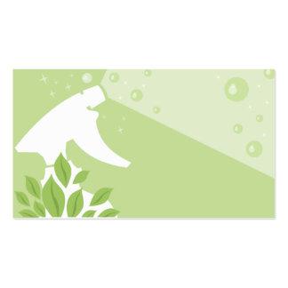 cartão de visita da limpeza do verde da casa da