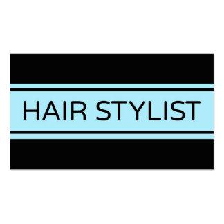 Cartão de visita da listra do cabeleireiro