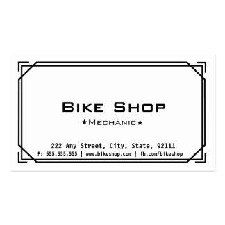 Cartão de visita da loja da bicicleta