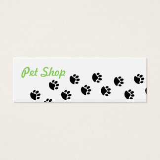 Cartão de visita da loja de animais de estimação