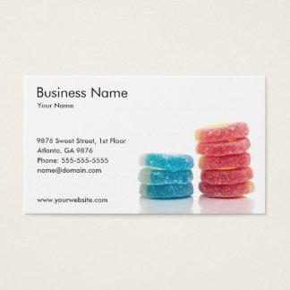 Cartão de visita da loja dos doces