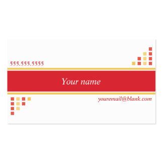 Cartão de visita da mistura do vermelho e do amare
